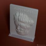 Leonardo Da Vinci portrait. 3d print in ABS plastic