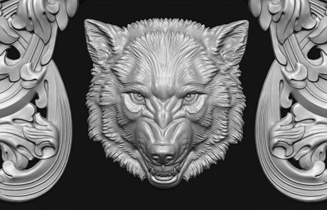 Parts of a Coat of Arms. bas-relief 3d model.