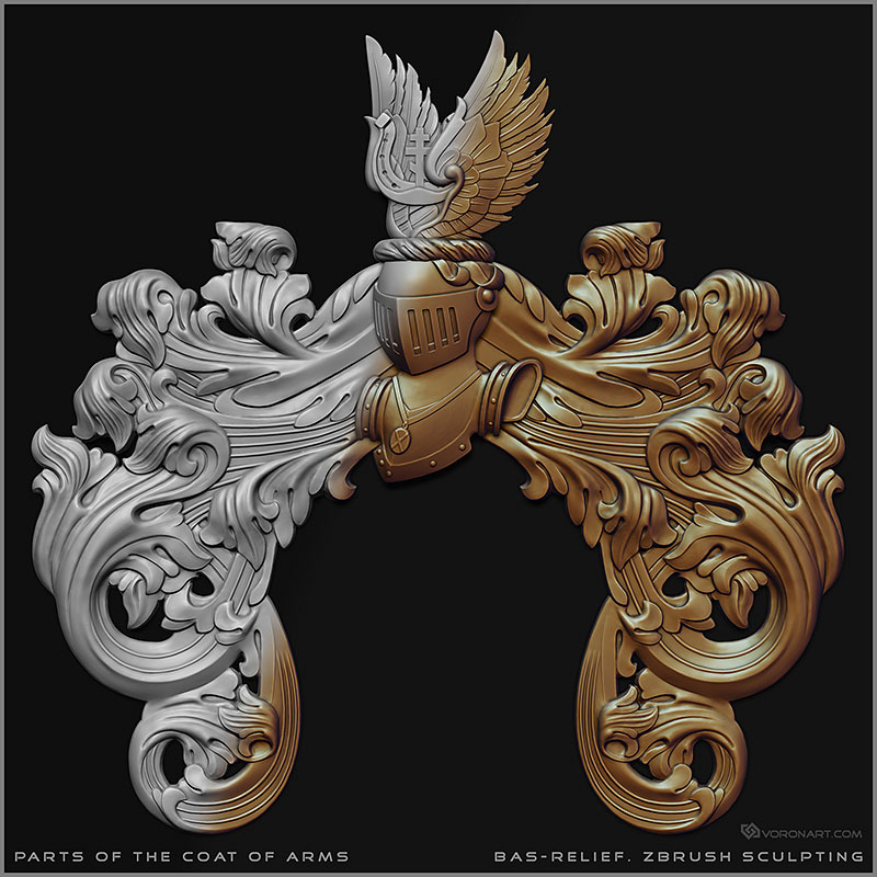 Patrs Of Coat Of Arms 3d Models Bas Relief For Cnc Milling