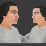 3d character Young Babek. Textured mid-poly 3d model