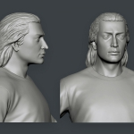 3d character young Babek. Zbrush sculpting