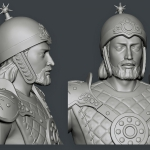 3d character babek, medieval warrior. Zbrush sculpting