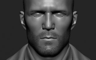 Jason Statham 3d portrait. High poly Zbrush sculpt