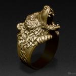 Roaring Bear ring, jewelry 3d model. Buy STL, OBJ