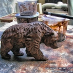 Walking bear. 3D model for CNC wood carving.