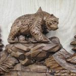 Walking bear. 3D model for CNC wood carving.