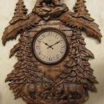Walking bears. 3D model for wall clock cnc carving.