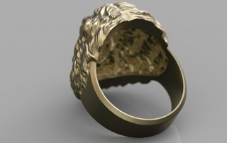 Angry Lion Ring. jewelry 3d model for 3d printing. STL, OBJ
