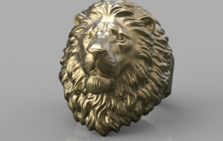 Calm Lion Ring. jewelry 3d model for 3d printing. STL, OBJ