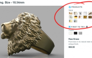 Calm Lion ring is successfully 3d printed in some metals