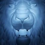 lion head polyamide 3d-print for original wall light creation