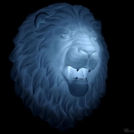 lion head polyamide 3d-print for original wall light creation