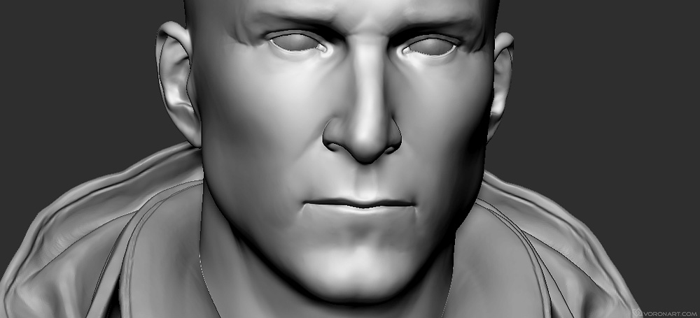Bear Grylls 3d portrait. High poly Zbrush sculpt for 3d printing