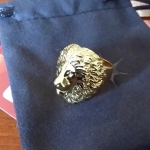 Lion ring. 18k gold. Buy STL 3d model