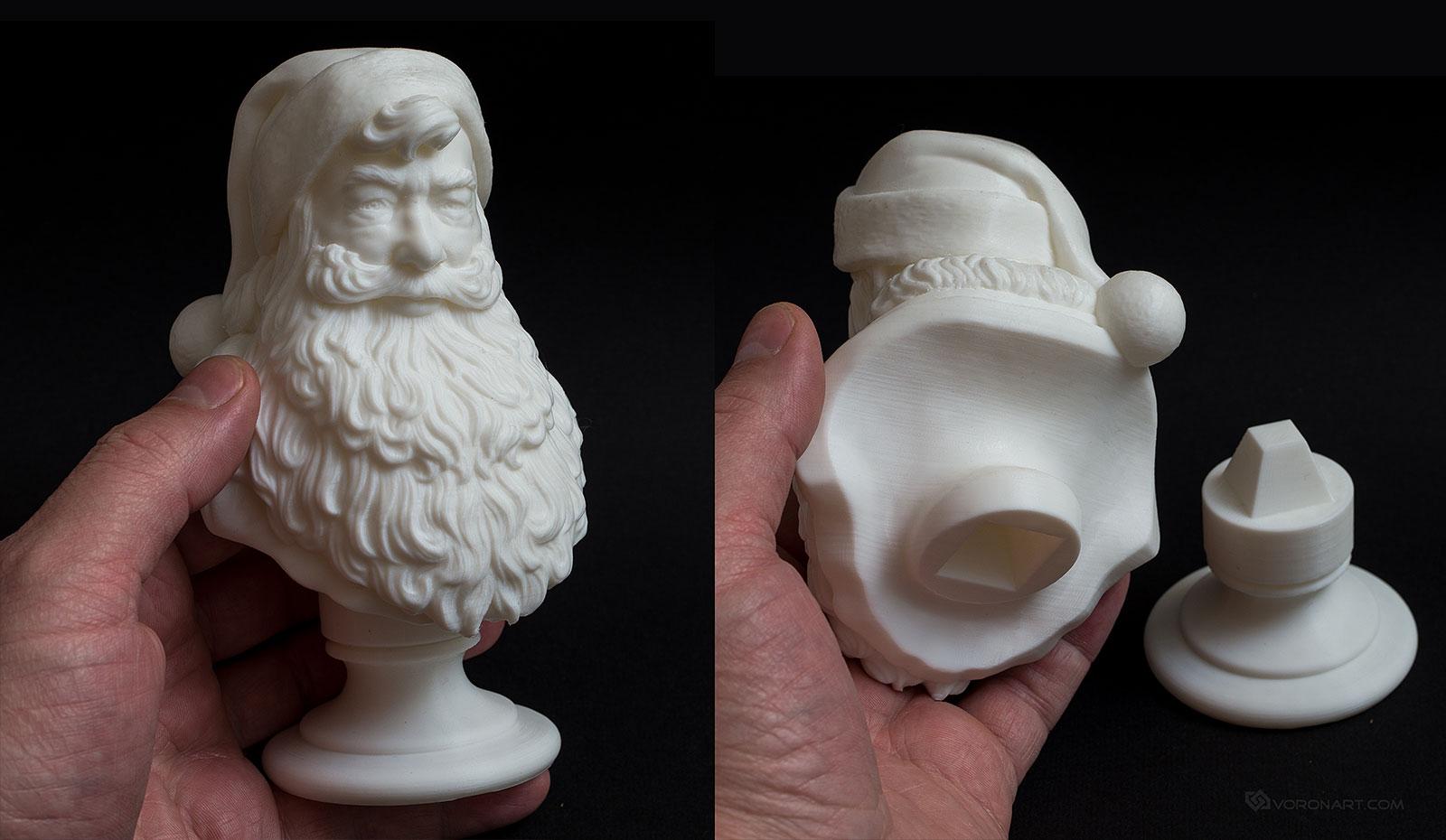 Santa claus portrait d sculpture