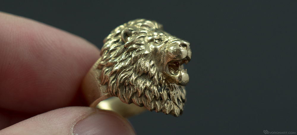 aggressive lion ring. buy it now