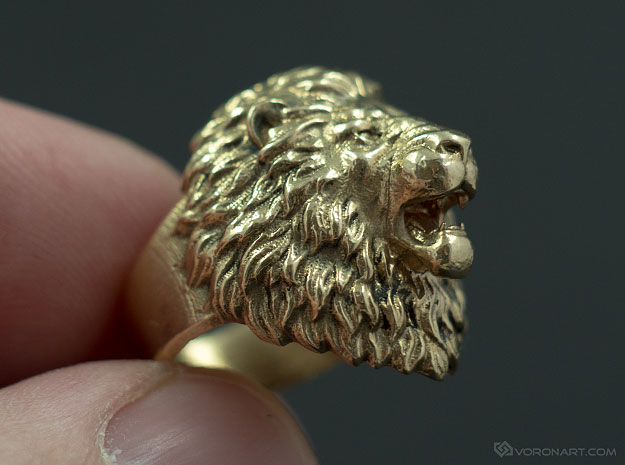 Silver Metal Lions Ring