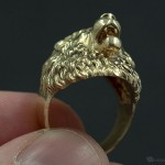 aggressive lion ring in metal. buy it now link