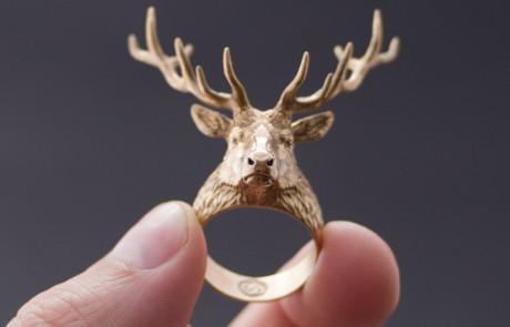buy deer head ring. Actual jewelry or digital 3d model