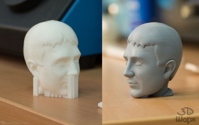 3d printing process of portrait bobblehead doll