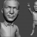 alpinist portrait sculpture for FDM 3d printing. Digital sculpture from photo