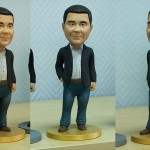 couple in love. Bobblehead portrait figurines for FDM 3d printing. 3d sculpture from photo