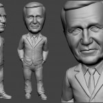 businessman portrait figurine for FDM 3d printing. 3d model from photo