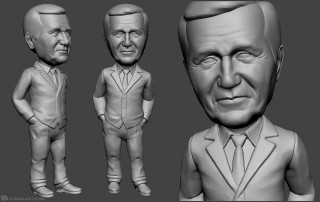 businessman bobblehead portrait figurines for 3d printing