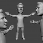 male dancer portrait sculpture for 3d printing. 3d model from photo in zbrush