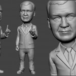 politician sculpture for FDM 3d printing. Digital sculpture from photo