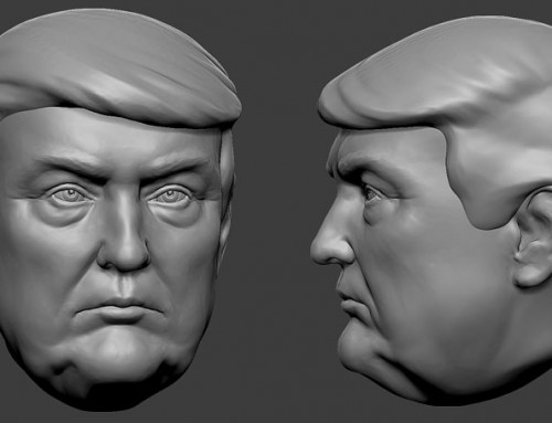 Donald Trump portrait. 3D model