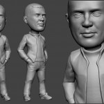 guy portrait sculpture for FDM 3d printing. Digital sculpture from photo