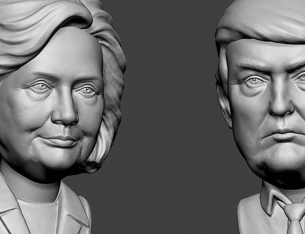Hillary Clinton portrait. 3D model