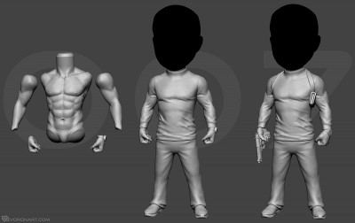 movie character full body sculpting. 3d printable model