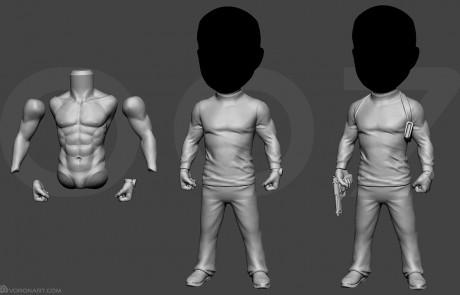 movie character full body sculpting. 3d printable model
