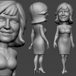 woman portrait sculpture for 3d printing. 3d model from photo in zbrush