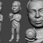 medic portrait figurine for FDM 3d printing. 3d model from photo
