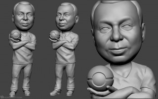 medic bobblehead portrait figurine for 3d printing
