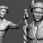 Mercury antique god. 3D print ready 3D Sculpture for metal casting