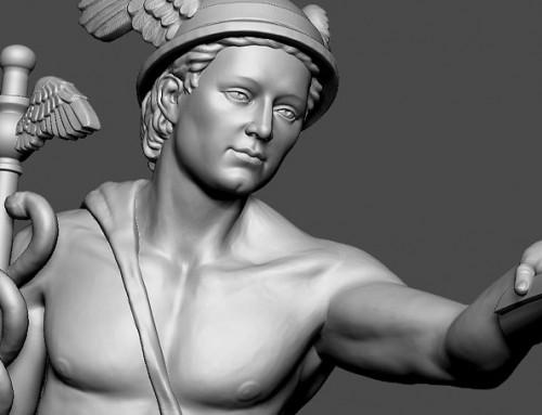 Mercury. Antique god sculpture