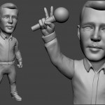 singer bobblehead portrait figurines for 3d printing