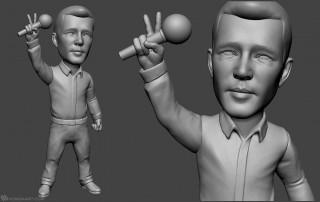singer bobblehead portrait figurines for 3d printing