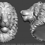 Serious lion head 3d model, STL and OBJ files. For 3d printing, CNC milling