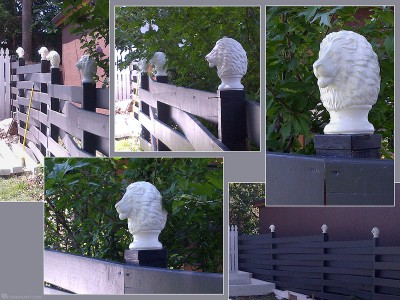 lion head digital sculpture. post finial. CNC, 3d printing