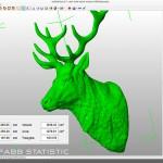 Deer head sculpture. STL, OBJ. 3d printing, CNC milling ready