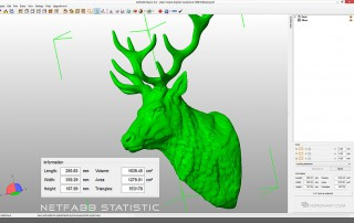 Deer head sculpture. STL, OBJ. 3d printing, CNC milling ready