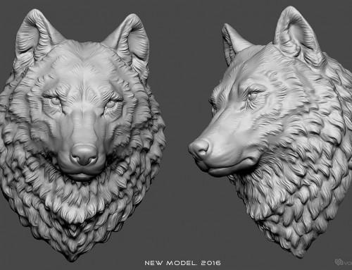 New Wolf Head 3d model