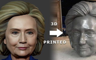 Hillary Clinton portrait 3d printed sculpture