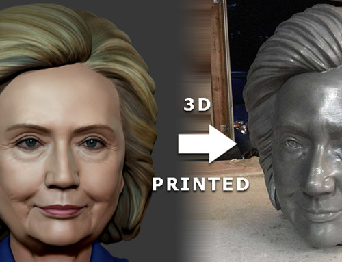 3D printed american presidential candidates