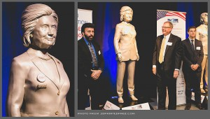 Digital sculptures of Hillary Clinton 3d printed